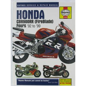 Haynes Honda CBR900RR Repair Manual  - 2161