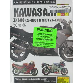 Haynes Kawasaki ZX600 Repair Manual  - 2146