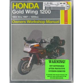 Haynes Honda Gold Wing 1200 Repair Manual  - 2199