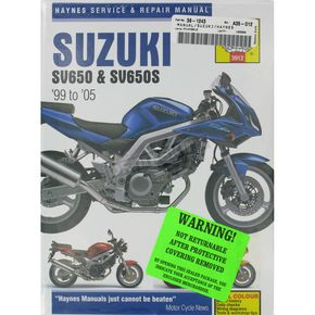 Haynes Suzuki SV650/SV650S Repair Manual - 3912