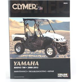 Clymer Yamaha Rhino Repair Manual - M291