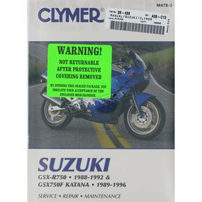 Clymer Suzuki Repair Manual  - M478-2