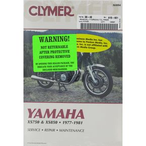 Clymer Yamaha Repair Manual - M404