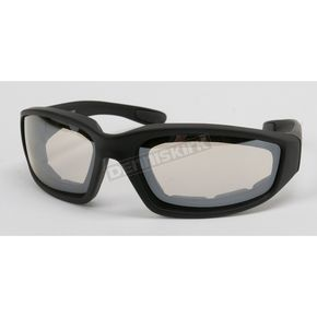 Black C-2 Performance Sunglasses w/Clear Mirror Lens - C-2BK/CLM