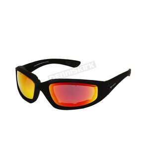 Black C-2 RV Performance Sunglasses w/Red RV Lens - C-2BK/RED