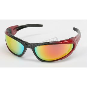 Chapel Red C-4 RV Performance Sunglasses w/Red RV Lens - C-4RED/RED