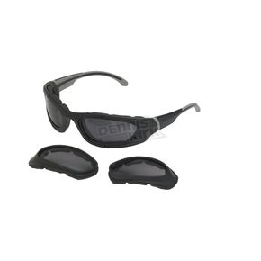 Chapel Silver C-21IC Interchangeable Sunglasses w/Smoke & Clear Lens - C-21ICSL/SM