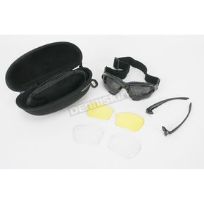 Chapel Black C-20IC Interchangeable Sunglasses w/Smoke,Clear & Yellow Lens - C-20ICBK/SM