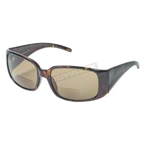 Chapel Womens Brown R504 Bi-Focal Sunglasses w/+2.50 Brown Lens - R504BR/BR/2.5