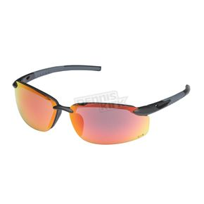 Chapel Black Safety S-45 Sunglasses w/Red RV Lens - S-45BK/RED