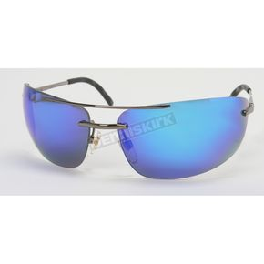 Chapel Silver Safety S-79 Sunglasses w/Blue RV Lens - S-79SL/BLU