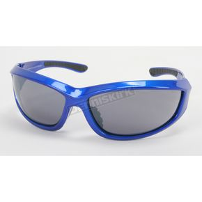 Chapel Blue Safety C-115 Sunglasses w/Smoke Lens - C-115BLU/SM