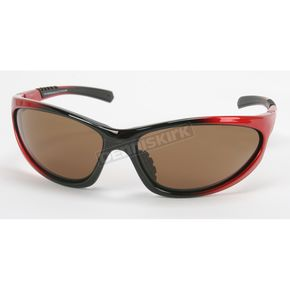 Chapel Red Safety C-116 Sunglasses w/Brown Lens - C-116RED/BR