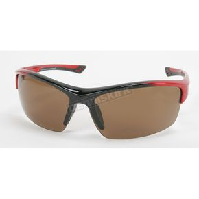 Chapel Red Safety C-118 Sunglasses w/Brown Lens - C-118RED/BR