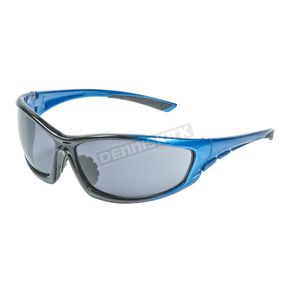 Chapel Blue Safety C-120 Sunglasses w/Smoke Lens - C-120BLU/SM