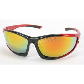 Chapel Red Safety C-120 Sunglasses w/Red RV Lens - C-120RED/RED