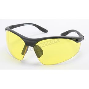 Chapel Black Safety Classic C-123 Sunglasses w/Night Driving Lens - C-123BK/ND