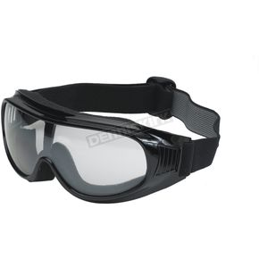 Black G-900 Over Glasses Goggles w/Clear Mirror Lens - G-900BK/CLM