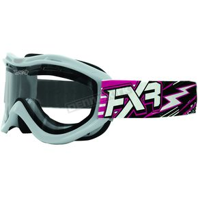 FXR Racing Fuchsia/White Recruit Storm Goggles - 2701