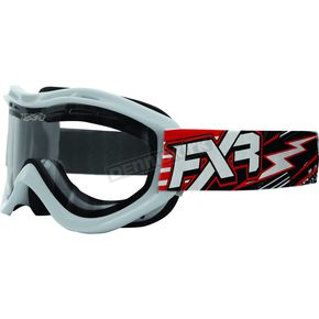 FXR Racing Red/White Recruit Storm Goggles - 2701