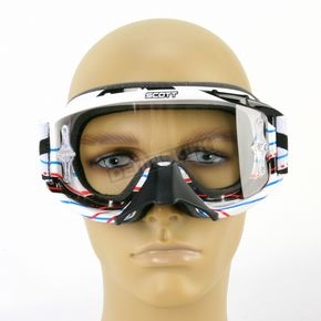 Scott Youth Grid Locke White 89Si Pro Graphic Goggles - 219810-3597041