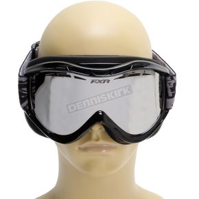 FXR Racing Silver/Gold Mirror Recruit Goggle - 13470.12300