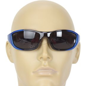 Chapel Blue Safety C-125 Sunglasses w/Smoke Lens - C-125BL/SM