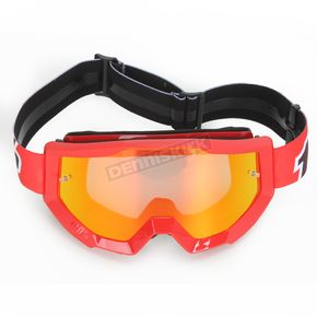 100% Fire Red Strata Goggle w/Red Mirror Lens - 50410-003-02