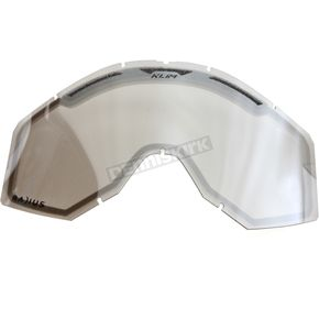Klim Clear/Silver Mirror Radius Pro Double Goggle Lens - 7000-902-000-061