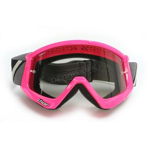 Thor Flo Pink/Black Combat Sand Goggle - 2601-2088