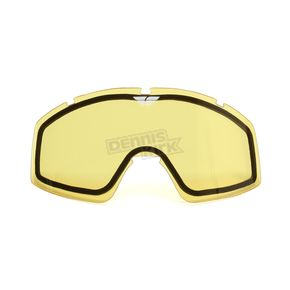 Fly Racing  Yellow Replacement Dual Lens for Zone/Focus Goggles - 37-2411