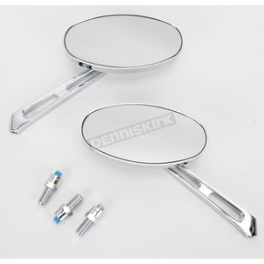 Emgo Billet Oval Mirrors - 20-26305