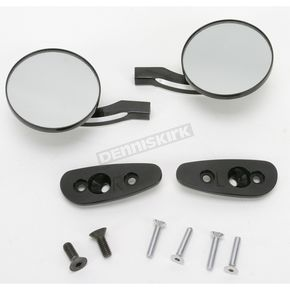 Pro-One Black Billet Round Blade Mirrors - S10270B