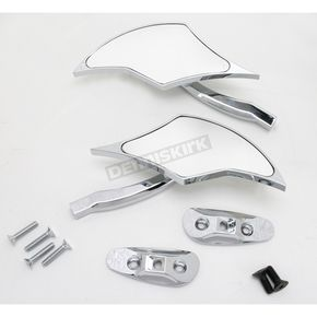 Pro-One Chrome Billet Scimitar Blade Mirrors - S10300