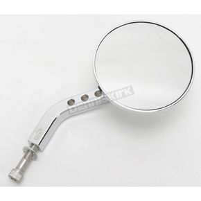 Chrome View Tech VII Billet Round Mirrors - 03-017R