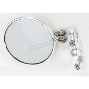 Constructors Racing Group Silver Hindsight LS Bar End Mirror - HSLS-201-L