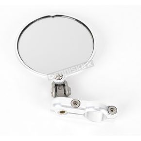 Constructors Racing Group Silver Hindsight LS Bar End Mirror - HSLS-201-R