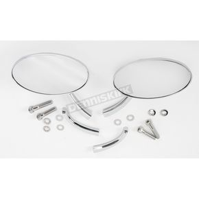 Drag Specialties Radius Touring Oval Mirrors - 0640-0526
