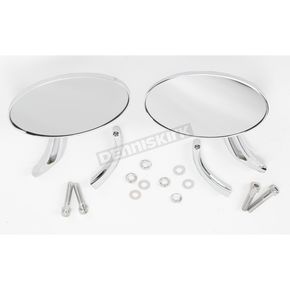 Drag Specialties Slot Touring Oval Mirrors - 0640-0527