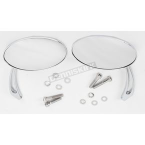 Drag Specialties Slayer Touring Oval Mirrors - 0640-0528