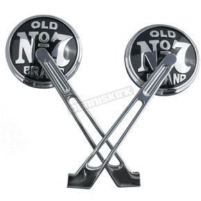 Jack Daniels Round Chrome Mirrors - JDA02B-02MS