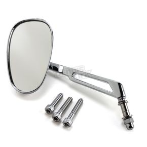 Parts Unlimited Chrome Mini-Oval Billet Mirror W/ 6