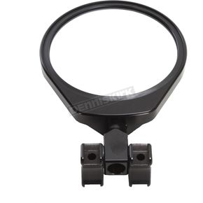 Black 6 in. Round Convex Glass Folding Side Clamp-on Mirror For 1.5