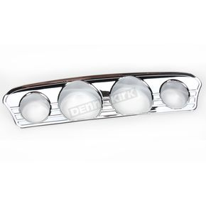 Kuryakyn Chrome Tri-Line Gauge Accent Trim  - 7284