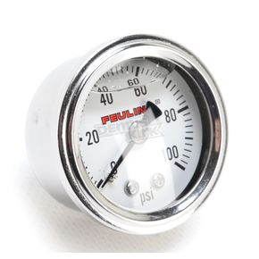 Feuling Motor Company Oil Pressure Gauge w/White Face - 9042