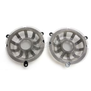 Arlen Ness Black 10-Gauge Forged Billet Speaker Grills - 03-906