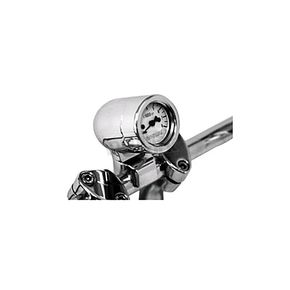 Baron Custom Accessories Mini-Bullet Tachometer w/White Face - BA-7573-00
