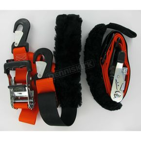 Big Daddys Tie-Down Ratchet w/2 Snap-Hook Ends and Sewn-in Sheepskin Soft-Tye - 32529-S