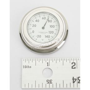 Formotion Chrome Flat Mount Thermometer w/White Face - SL-11000