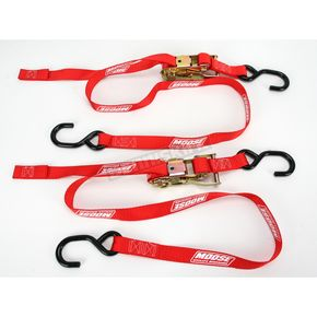Moose Red 1 in. Heavy-Duty Ratcheting Tie-Downs - 3920-0298
